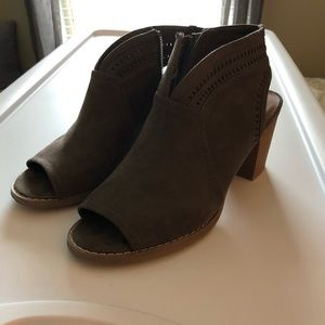Sonoma brown suede booties